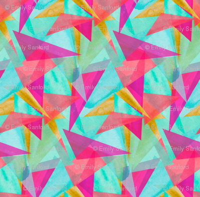 Cinta Watercolor Kaleidoscope