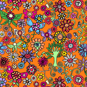 Peculiar Petal Pen-friends Orange Background