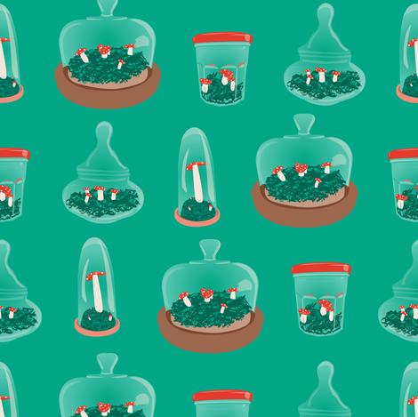 Mushroom Terrariums fabric by mandasisco on Spoonflower - custom fabric