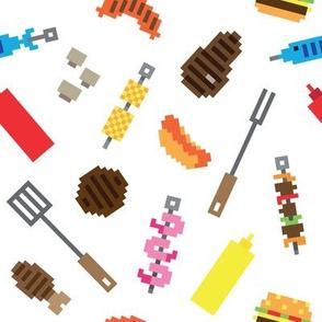 Pixel bbq meat