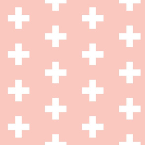 Blush Crosses - Blush Plus Signs