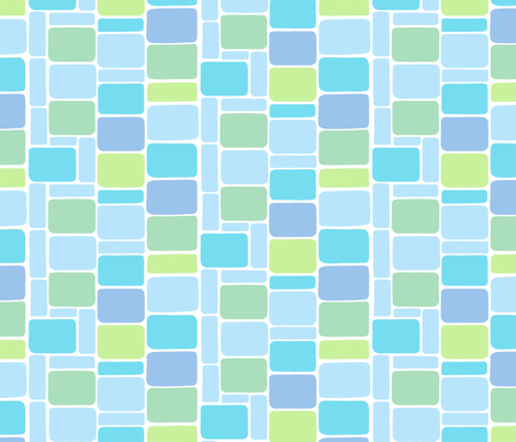 Irregular Rectangles Blue Green