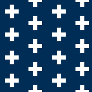 Navy Crosses - Navy Plus Signs