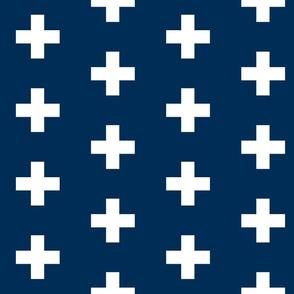 Navy Crosses - Navy Plus Signs