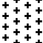 Black Crosses on White - Black Plus Sign