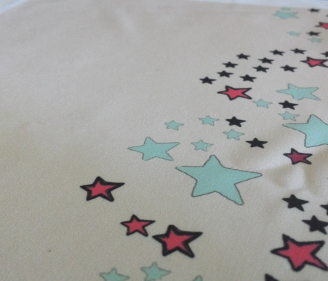 Paper Moon Collection - Colorful Cream Cappuccino Star Border