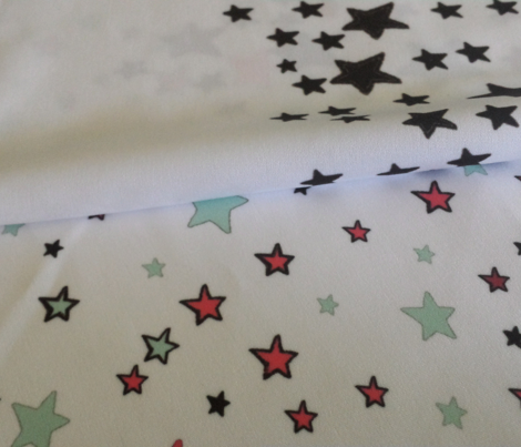 Paper Moon Collection - Black White Star Border