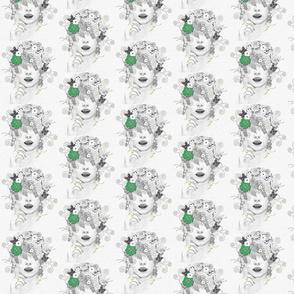 Flower Child in Green