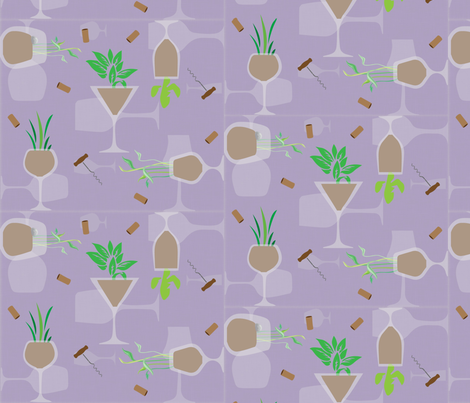 Uncork Nature!! fabric by kfrogb on Spoonflower - custom fabric