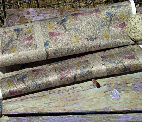 Tiled Handmade Paper with Embedded Flowers