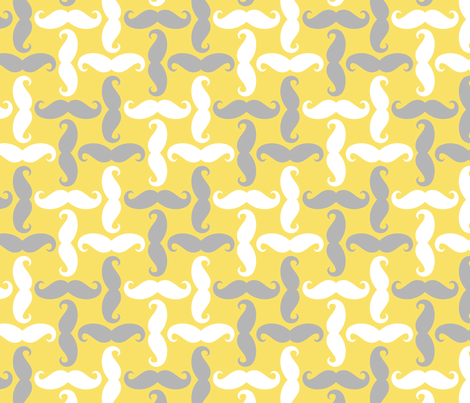 mustache tweed - sunshine fabric by weavingmajor on Spoonflower - custom fabric