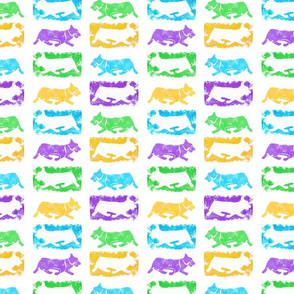 Pembroke Fiesta stamps - bright