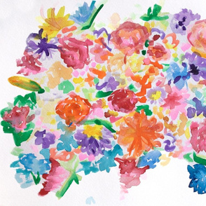 Graphic Watercolour Flowers