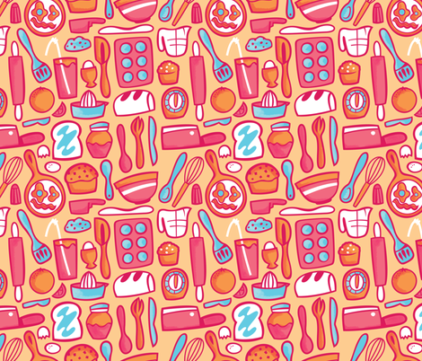 Everything but the Sink! fabric by smashworks on Spoonflower - custom fabric