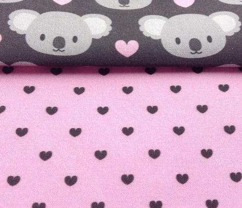 Tiny black hearts for cute koalas