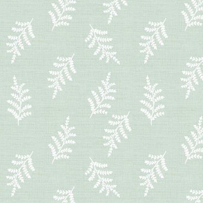 fern vintage botanical on pale sea