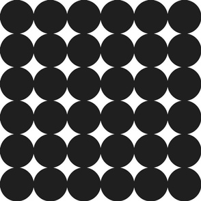 circles : black  + whtie : large