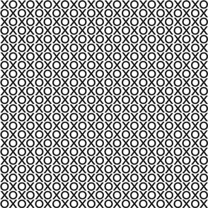 XOXO : black on white : small