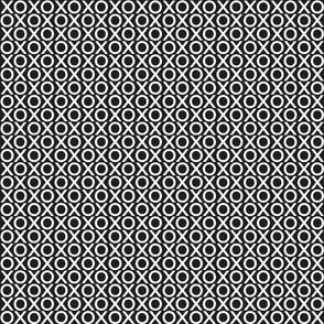 XOXO : white on black : small