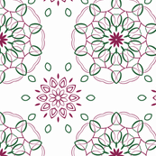 Purple and Green Ornamental Pattern Design