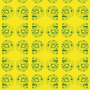 Inverted Sugar Skull yellow
