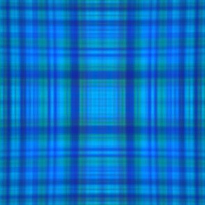 Blue dye plaid