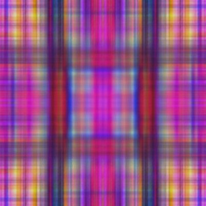 Drip dye plaid more blurry