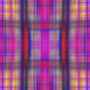 Drip dye plaid more blurry