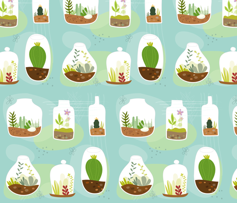 Terrariums fabric by lamai on Spoonflower - custom fabric