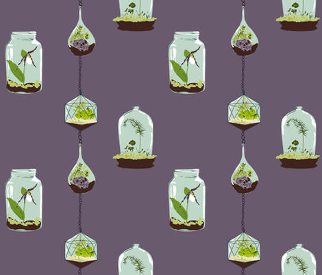 Terrarium fabric by sarah845 on Spoonflower - custom fabric
