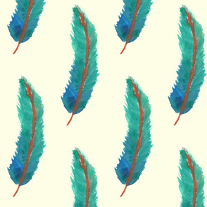 Blue Ombre Feather