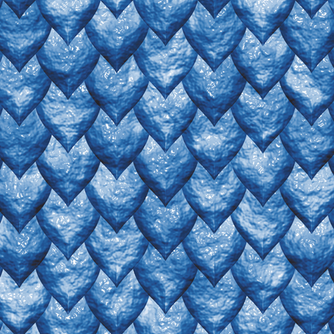 Blue Dragon Skin fabric by animotaxis on Spoonflower - custom fabric