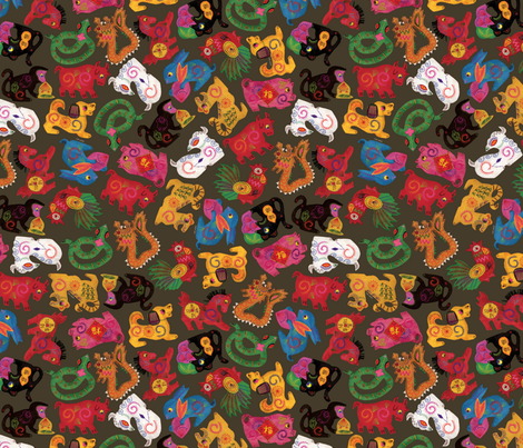 chinese-mobile-150 fabric by danab78 on Spoonflower - custom fabric
