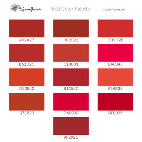 Red Color Palette fabric by spoonflower on Spoonflower - custom fabric