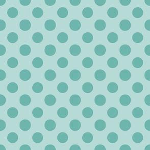 Minty Medium Polka Dots