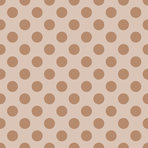 Cream Peach Polka Dots