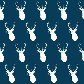 Smarty Pants Deer Small Print, Navy