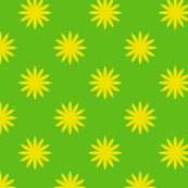 Green & Yellow Flowers Polka Dot Pattern