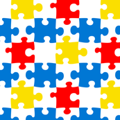 Bright and Colorful Puzzle Pieces Pattern Design