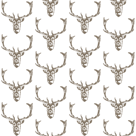 Wild Welsh Stag - Mini fabric by kristopherk on Spoonflower - custom fabric