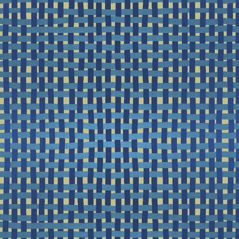 Woven blues on pale gold