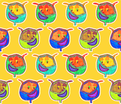 Funny Monsters fabric by argobeanie on Spoonflower - custom fabric