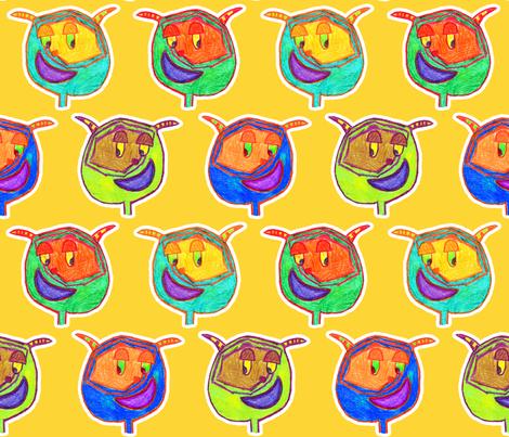 Funny Monsters fabric by argobeanie on Spoonflower - custom fabric