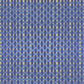 Woven indigo and lilac on pale gold