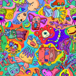 Monsters - Multicolor Background