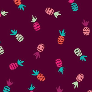 Hot summer pineapple aztec pattern