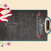 Chocolate Cake Recipe Tea Towel
