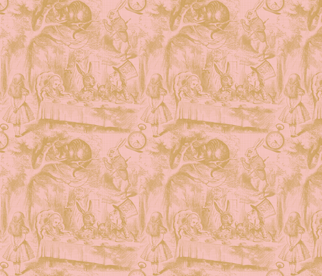 Alice In Wonderland ~ Late For Tea! ~ Gilt on Dauphine ~ Linen Luxe