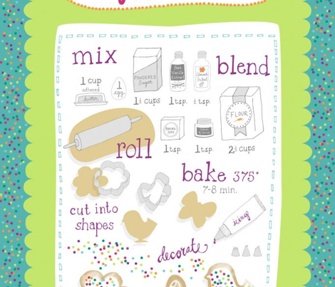 Sugar Cookie Tea Towel