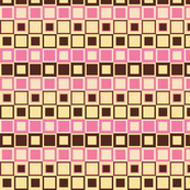 Hot Pink & Chocolate Brown Checkered Pattern
